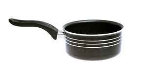 New stainless black steel pot Stock Images