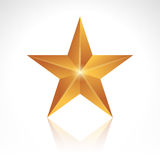 New Star. Vector illustration of a golden new star Stock Photography