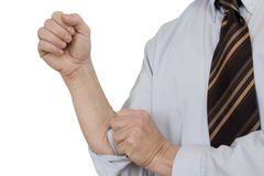 New start. For the new start putting short arms Royalty Free Stock Photo