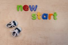 New start concept with new shoes stock photo