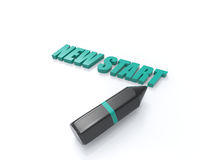 New Start 3d word concept Royalty Free Stock Images