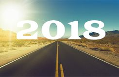 New. Start road year business highway happy Stock Photos