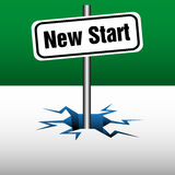 New start signpost Stock Photo
