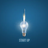 New start up. New start up concept design Stock Images
