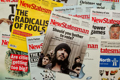 New Statesman Magazine covers Royalty Free Stock Photography
