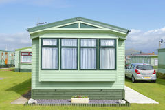 New static trailer home caravan Royalty Free Stock Photo