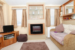 New static home caravan interior Stock Images