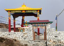 New statue of buddha in Pangboche monastery Royalty Free Stock Images