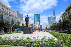New statue of Ho Chi Minh Stock Photo
