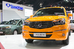 New Stavic from Ssangyong at The 35th Bangkok International Motor Show, Concept Beauty in the Drive on March 27, 2014 in Bangkok, Royalty Free Stock Photography