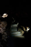 New steps in cave Royalty Free Stock Image