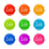 New sticker set. Vector sale banner for web store. Product stickers with offer about the best price Stock Photography