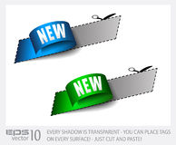 New Sticker Tag with Transparent Shadows. Royalty Free Stock Images