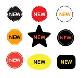 New stickers icon on white background. new labels sign. New sticker set. flat style Royalty Free Stock Image