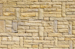New stone cladding plates on the wall Stock Photography