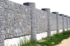 New  stone fence Royalty Free Stock Image
