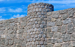 New  stone fence Royalty Free Stock Photography