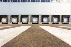 New Storage entrances. Storage entrances, new large warehouse Stock Photo