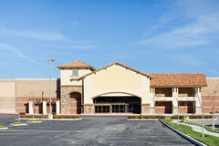 New Store Vacant. New business building is vacant in the suburbs Royalty Free Stock Images