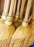 New straw broom Royalty Free Stock Images