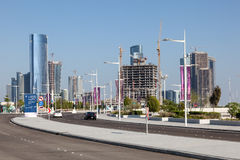 New Street at the Al Maryah Island in Abu Dhabi Stock Photos