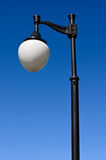 New street lampposts against Royalty Free Stock Photos