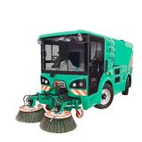New street sweeper machine on white isolated background.  Stock Images