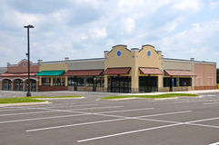 New Strip Mall Royalty Free Stock Photos