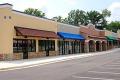 New Strip Mall Stock Photo