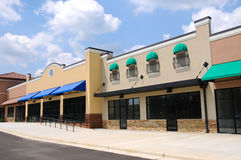 New Strip Mall Stock Photography