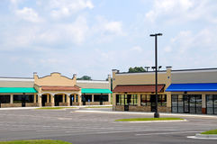New Strip Mall Stock Image