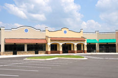 New Strip Mall Royalty Free Stock Photography