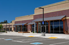New Strip Mall Shopping Center Royalty Free Stock Image