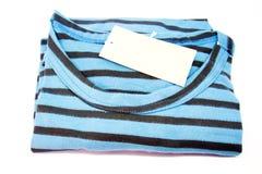 New stripes mens shirt. T-shirt Isolated on white. Color New stripes mens shirt. T-shirt Isolated on white Stock Photo