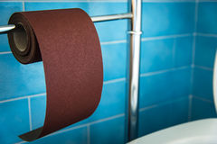 New strong toilet paper, hard ... very hard Stock Images
