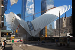 New structures growing in Ground Zero, New York Royalty Free Stock Photography
