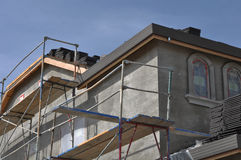 New Stucco Home Under Construction Stock Image