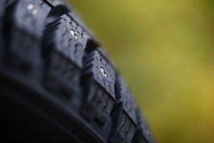 New studded tire Royalty Free Stock Image