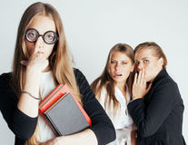 New student bookwarm in glasses against casual Royalty Free Stock Photos