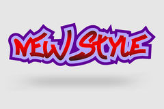 New style graffiti Stock Photo