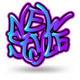 New style graffiti Stock Photography