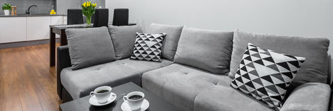 New style living room stock photo