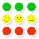 New style smile face icons Royalty Free Stock Photo