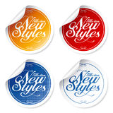 New styles vintage stickers. New styles vintage stickers set Royalty Free Stock Image
