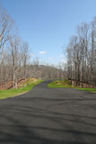 New Subdivision. An empty street in a new subdivision Stock Images