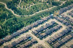 New Subdivision Development Royalty Free Stock Photos