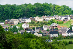New Subdivision In Wooded Area Stock Images