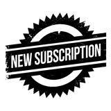 New Subscription rubber stamp Stock Photo