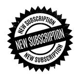 New Subscription rubber stamp Stock Photos