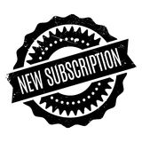 New Subscription rubber stamp Stock Photography